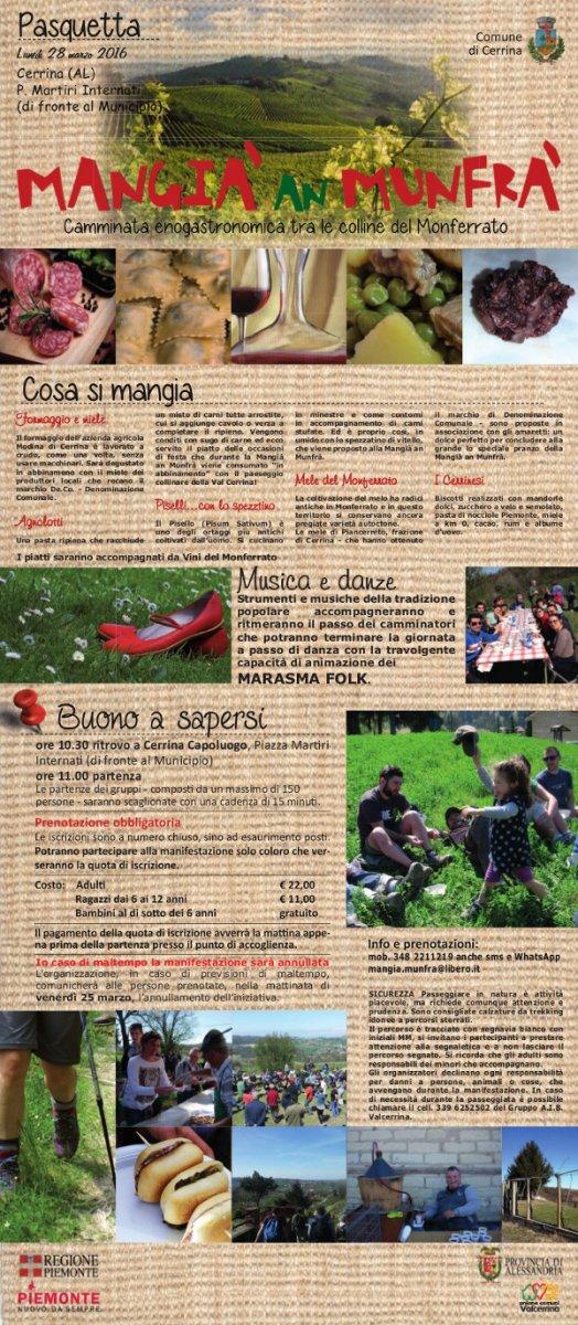 Mangià an Munfrà - Camminata enogastronomica tra le colline del Monferrato