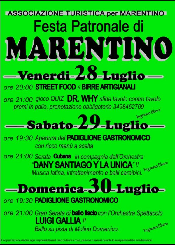 Festa Patronale Marentino