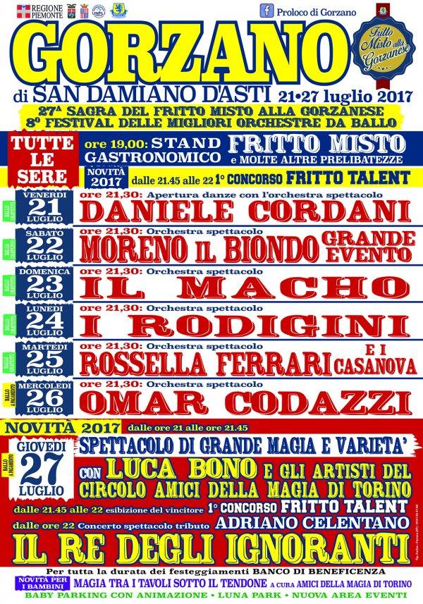 27° Sagra fritto misto e 8° Festival migliori orchestre da ballo