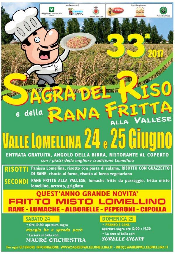 33ma Sagra del Riso e della Rana fritta alla Vallese
