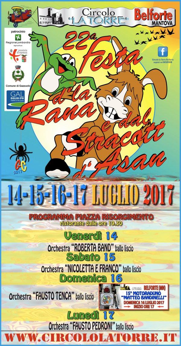 22ª Festa della Rana e dello Stracotto a Belforte Mantova 2017