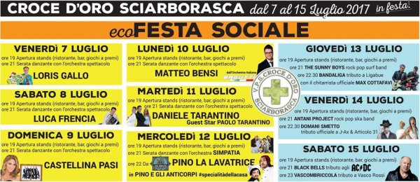 Ecofesta Sociale: la grande SAGRA di Sciarborasca (Ge)!