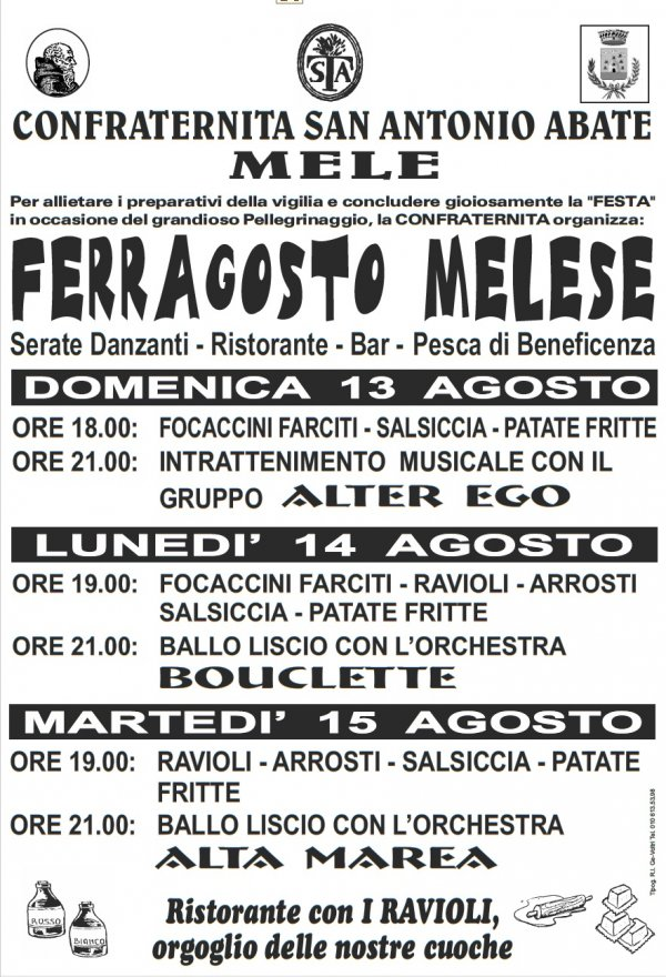 FERRAGOSTO MELESE 2017