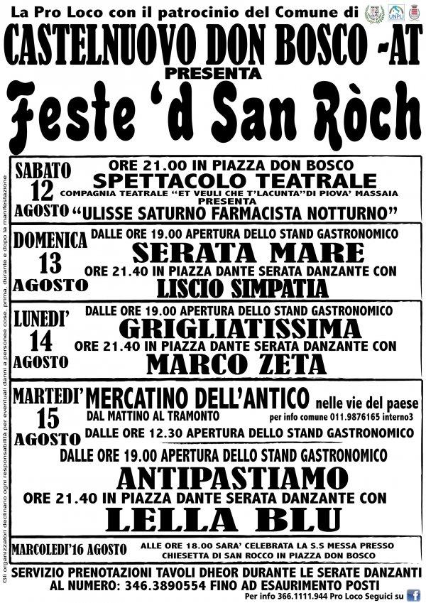 Feste d  San Ròch
