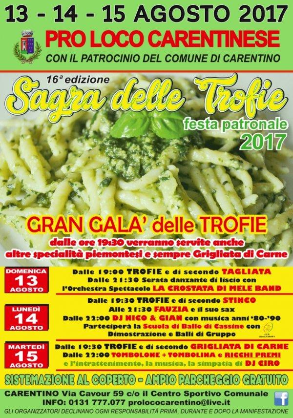16^edizione - SAGRA DELLE TROFIE - FESTA PATRONALE