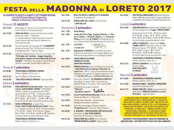Festa della Madonna di Loreto a Lanzo Torinese