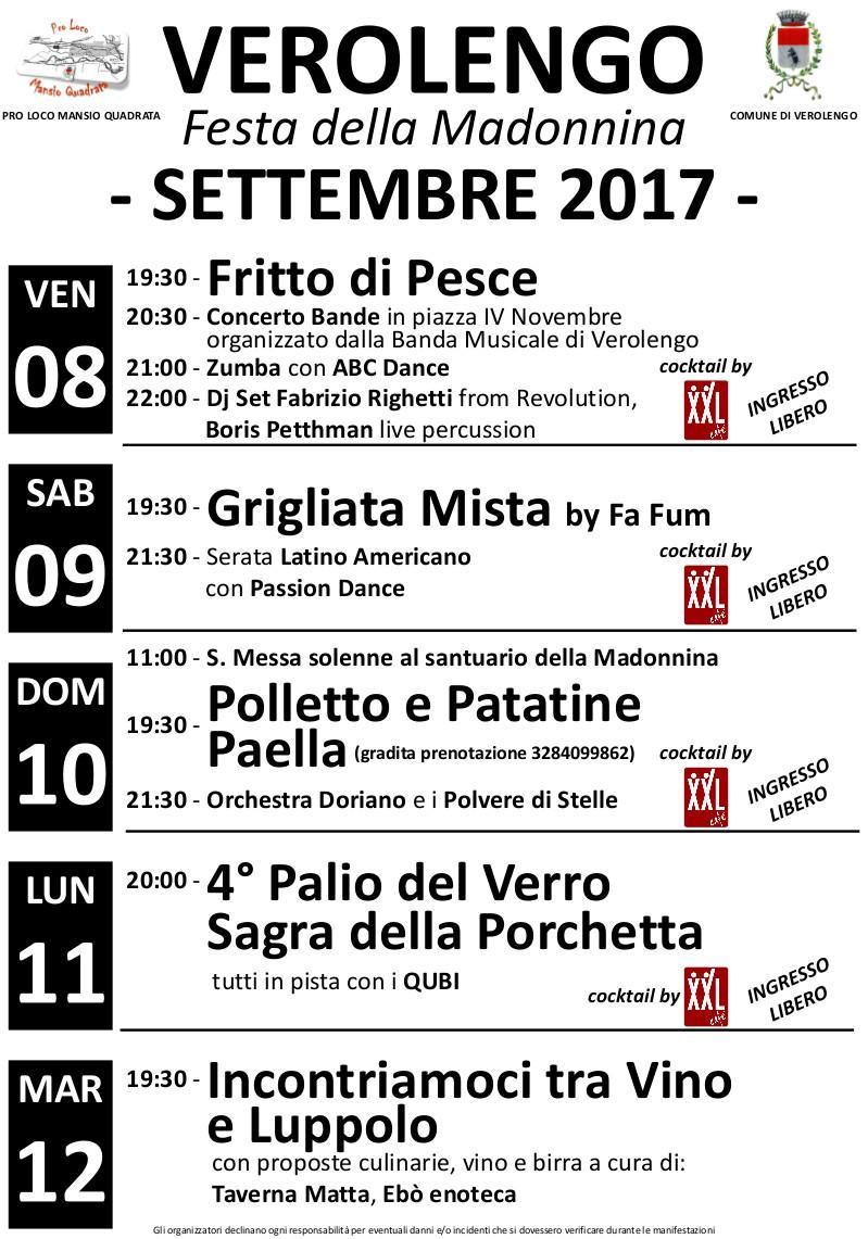 Festa patronale di Verolengo - Madonnina 2017