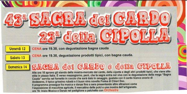 43 SAGRA DEL CARDO, DELLA CIPOLLA E DELLA BAGNA CAUDA