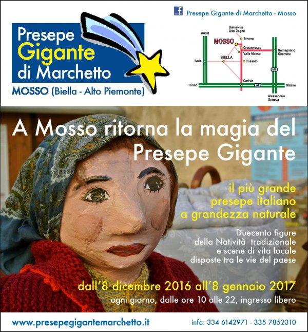 PRESEPE GIGANTE DI MARCHETTO a MOSSO (Biella)
