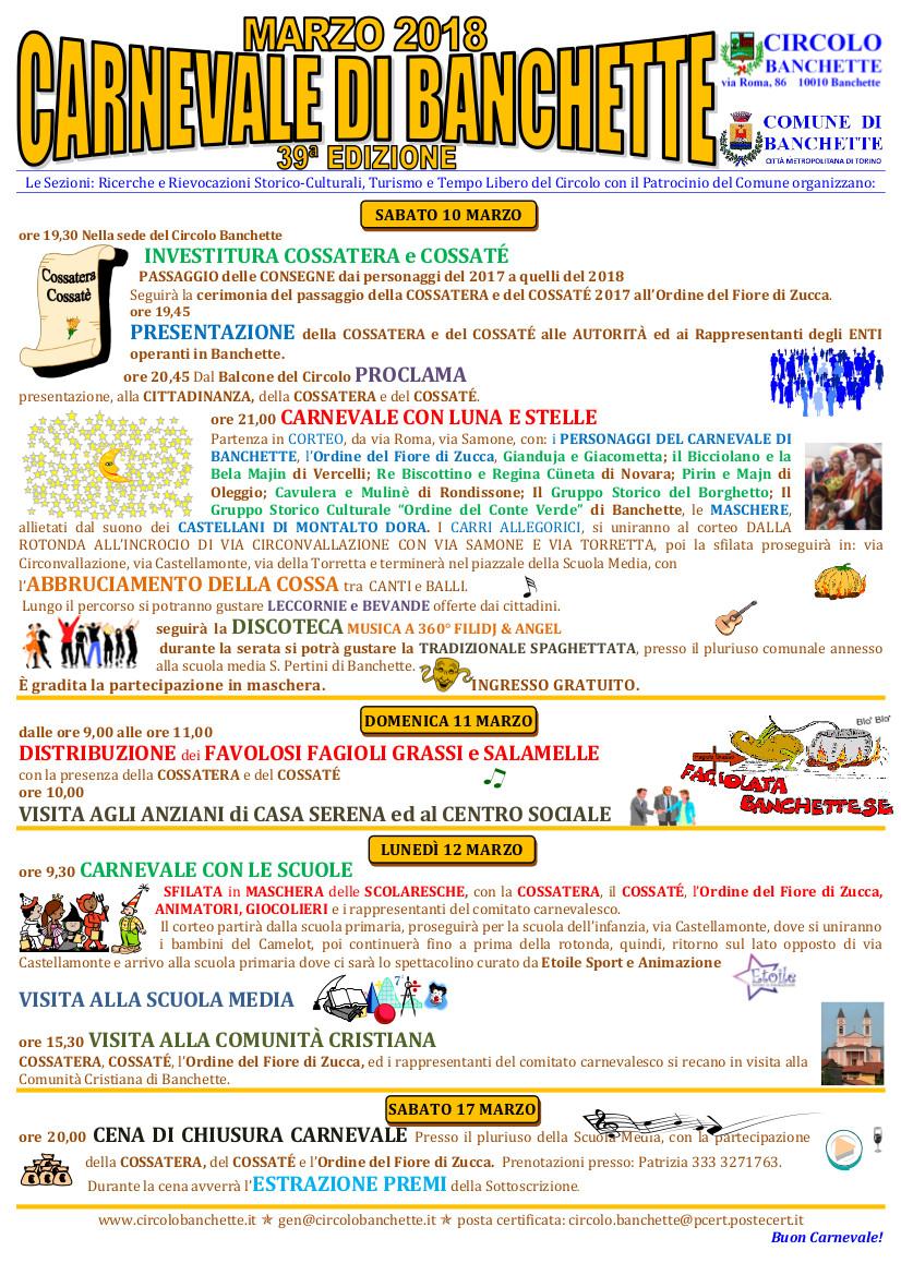 Carnevale di Banchette 2018