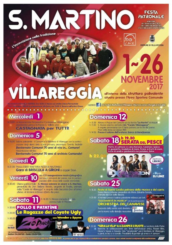 Festa Patronale San Martino 2017 di Villareggia