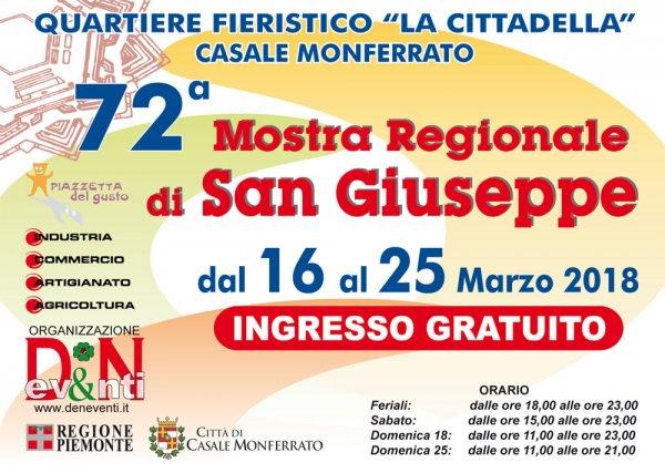 72° Mostra Regionale di San Giuseppe