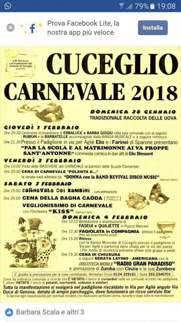 Carnevale Cuceglio 2018
