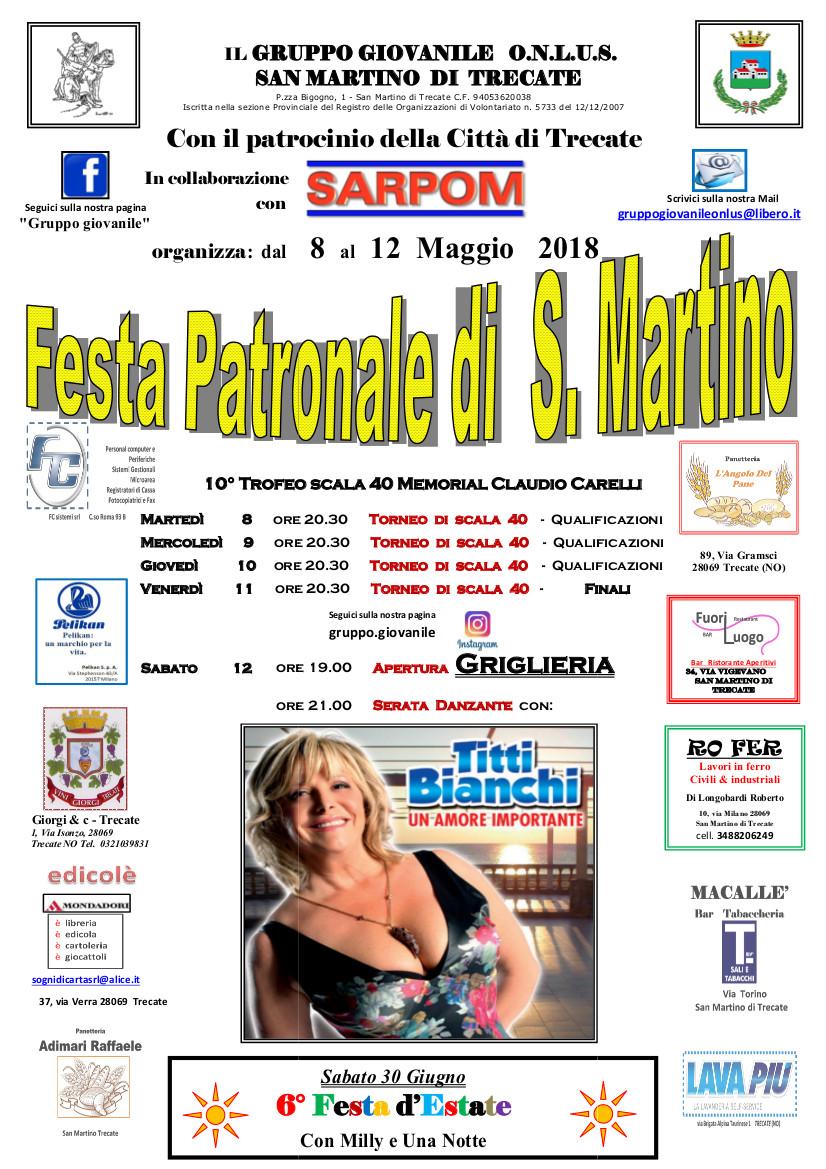 Festa Patronale San Martino di Trecate (NO)