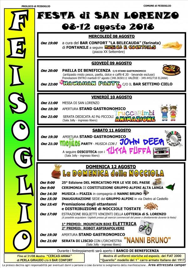 FEISOGLIO - FESTA DI SAN LORENZO
