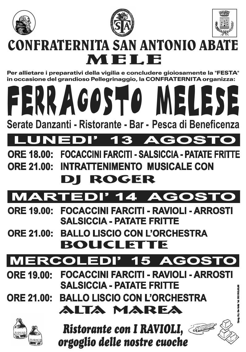 FERRAGOSTO MELESE 2018