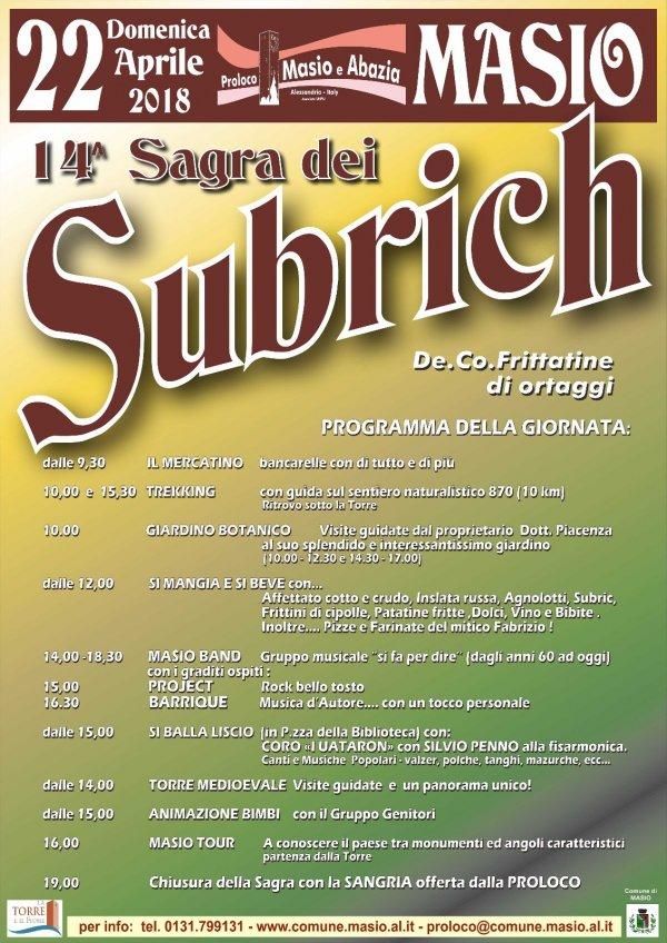 14^ Sagra dei Subrich - Masio (AL)