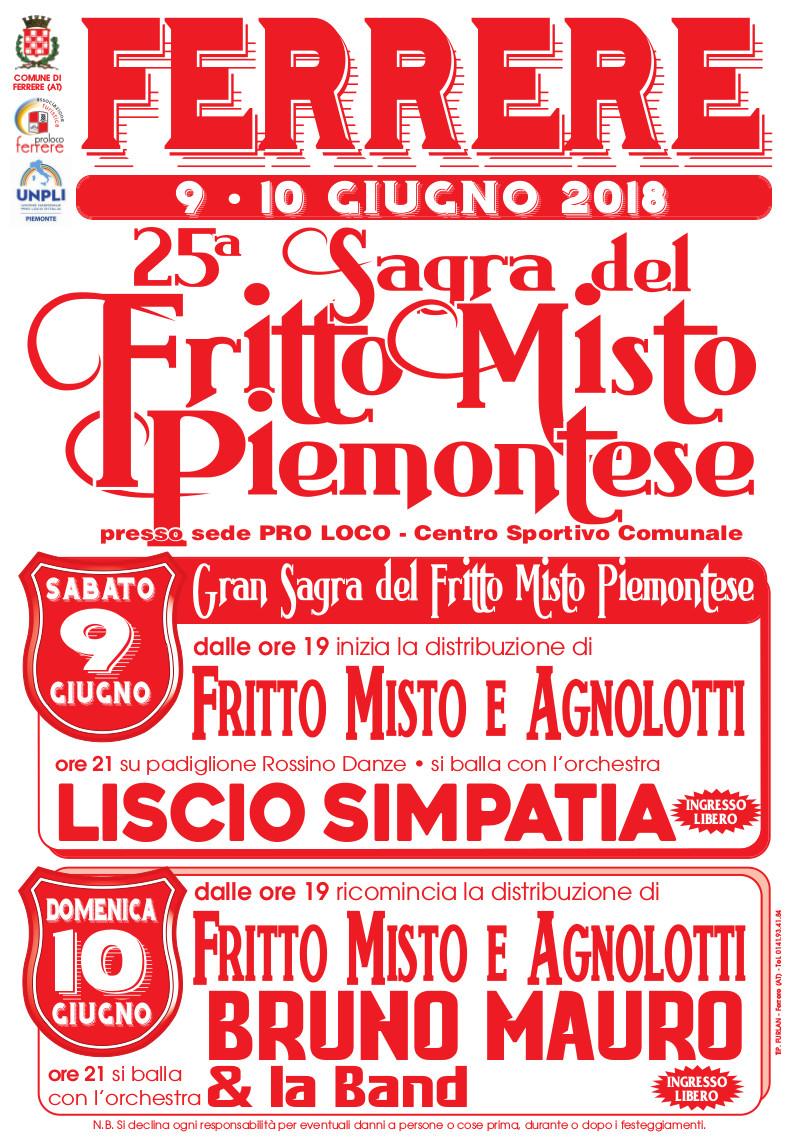 25^ SAGRA DEL FRITTO MISTO PIEMONTESE DI FERRERE D ASTI