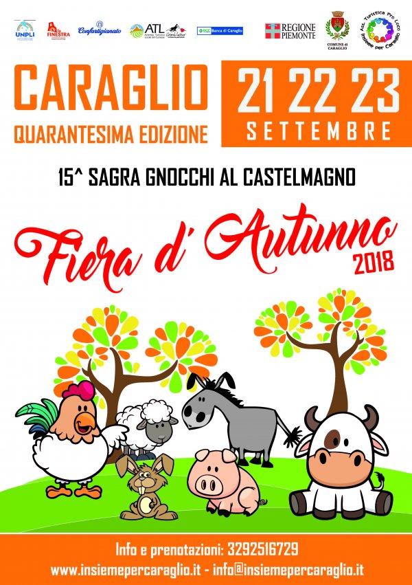 40 ^ Fiera d Autunno di Caraglio, 15 ^ sagra gnocchi al castelmagno