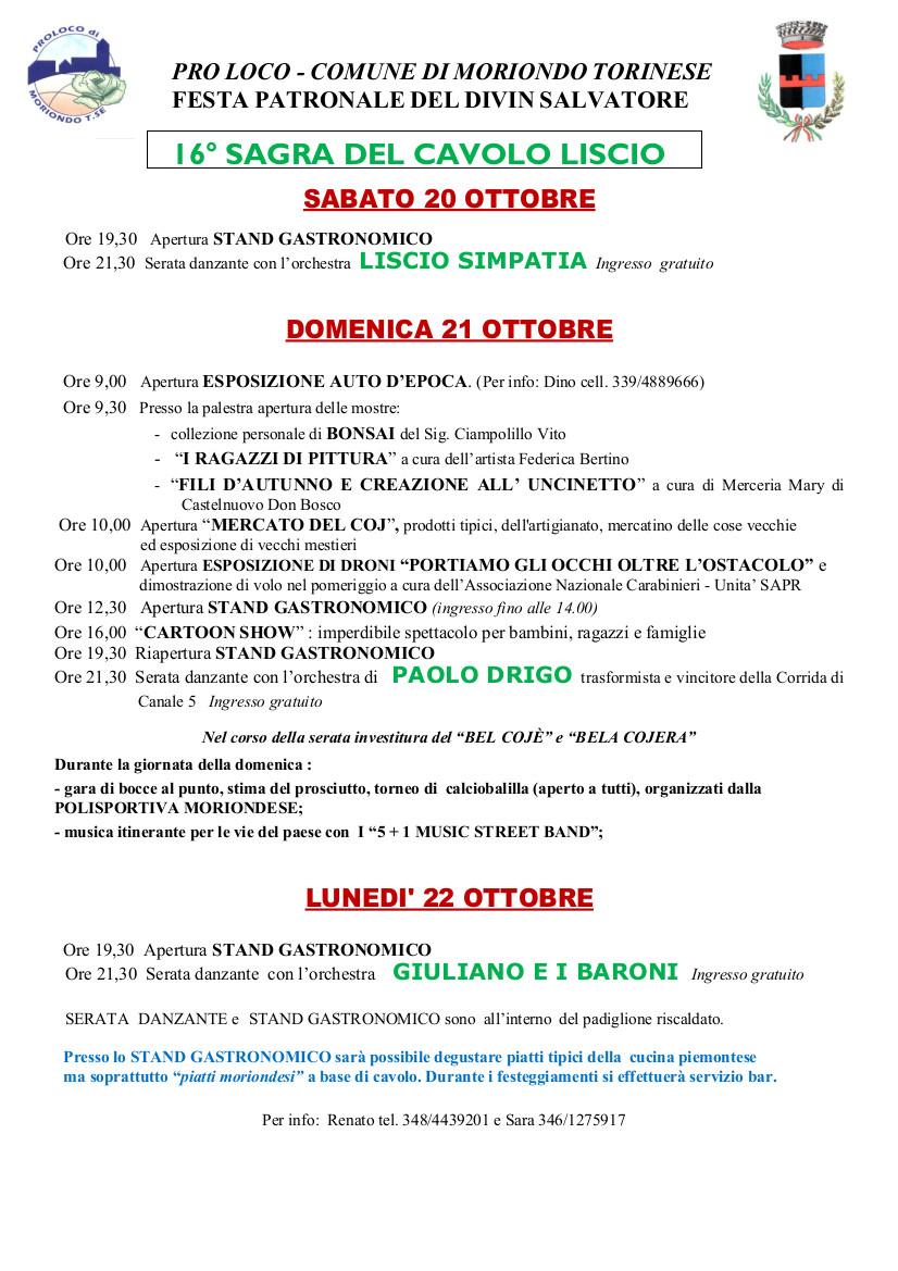 16ª SAGRA DEL CAVOLO LISCIO