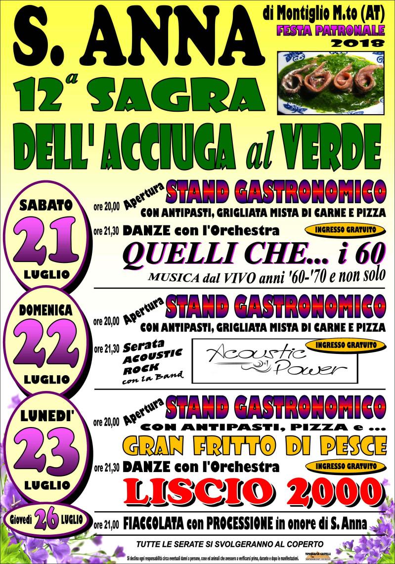 12^ sagra dell acciuga al verde-Festa patronale Sant Anna (Montiglio M.to)