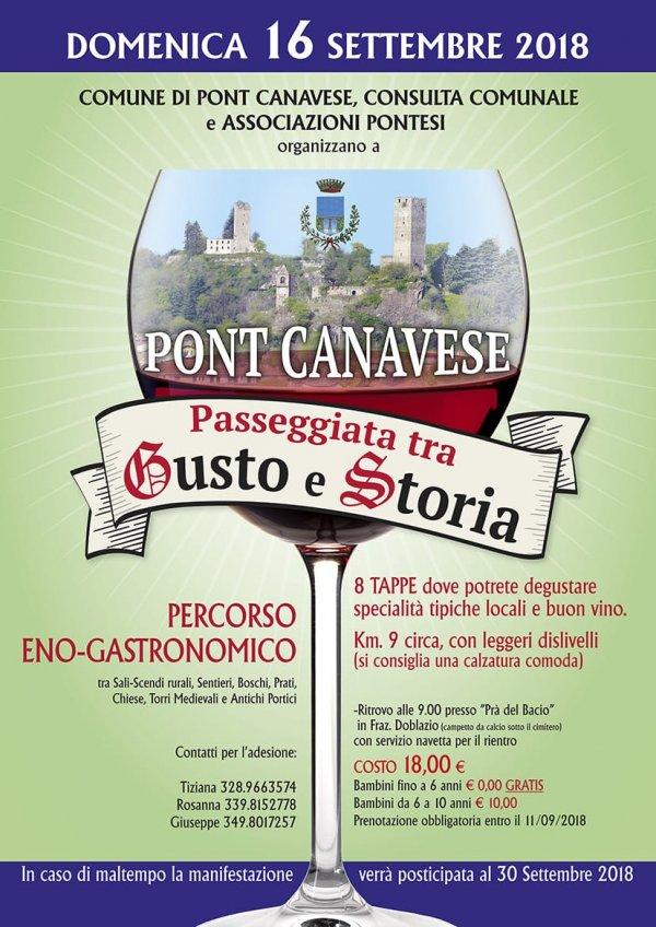 Passeggiata enogastronomica tra gusto e storia Pont Canavese