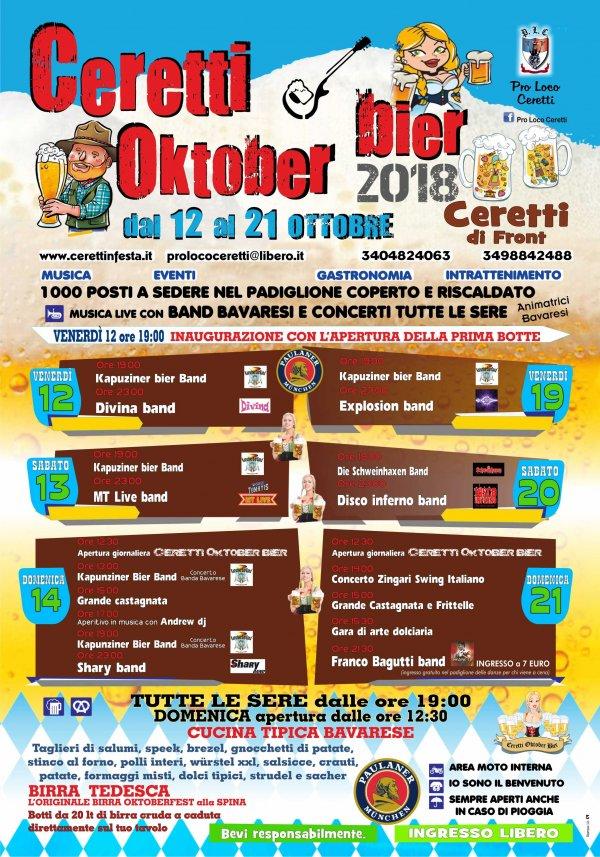 Ceretti Oktober bier 2018