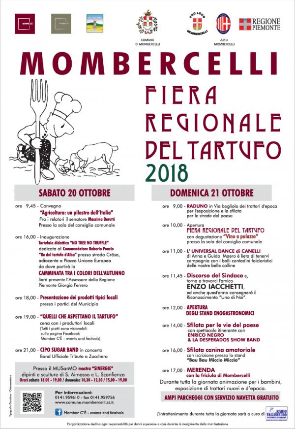 Fiera Regionale del Tartufo di Mombercelli 20-21 Ottobre