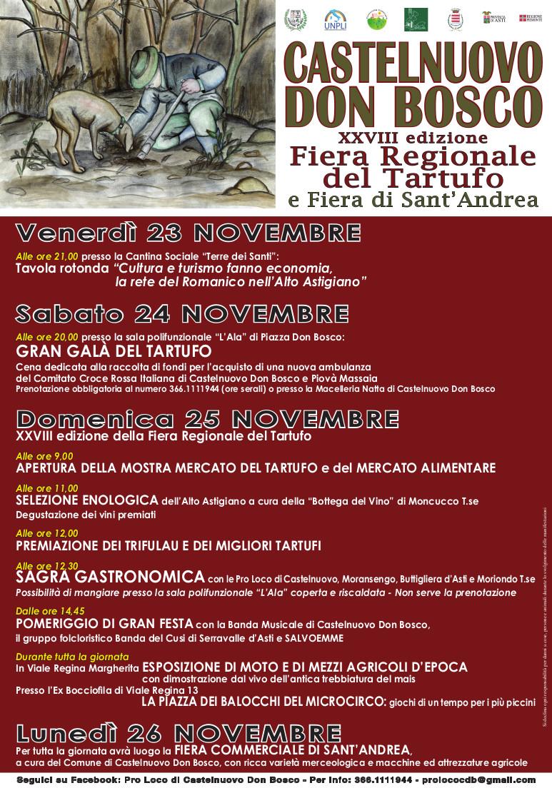 XXVIII edizione della Fiera Regionale del Tartufo e Fiera di Sant Andrea